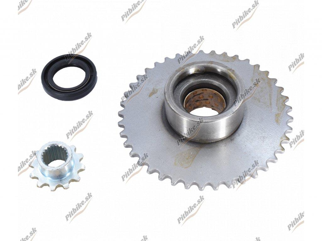 Ozubené koleso štartéra a voľnobežky + gufero 7723100562430 (3)