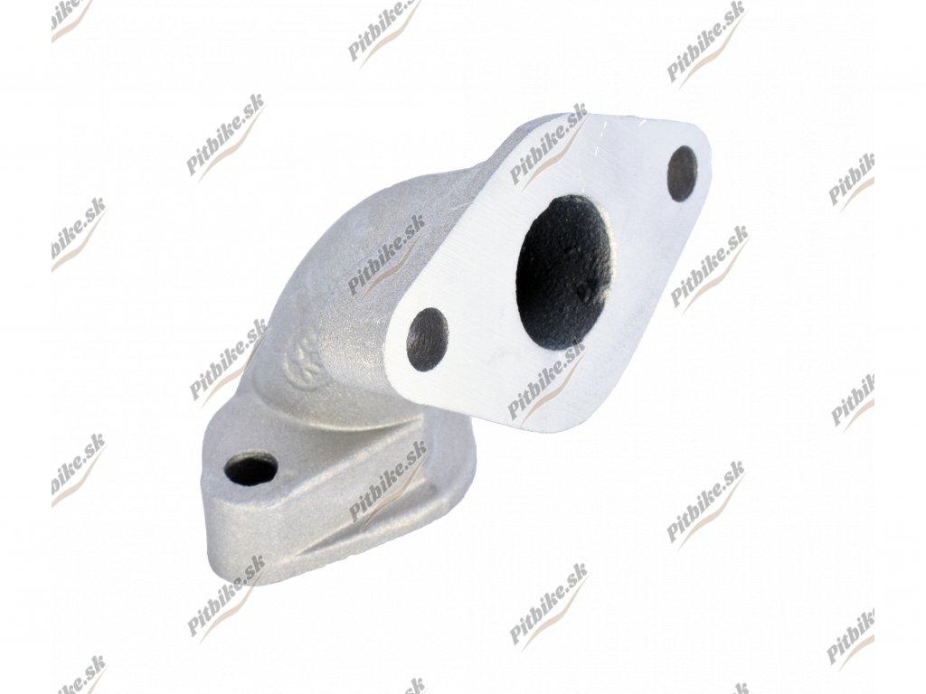 Koleno karburátora Pitbike 50cc streborné 7723100591843 (2)