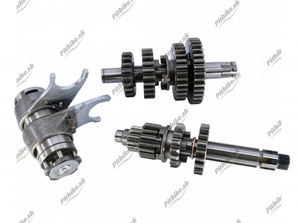 Prevodovka 4 rýchlostná ozubenie + vydličky YX140 7723100594516 (3)