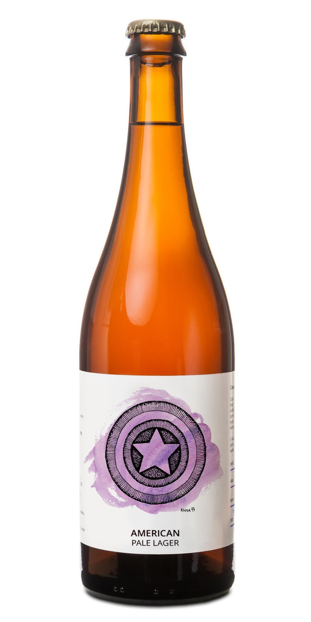 lahev american pale lager pivovar pivečka