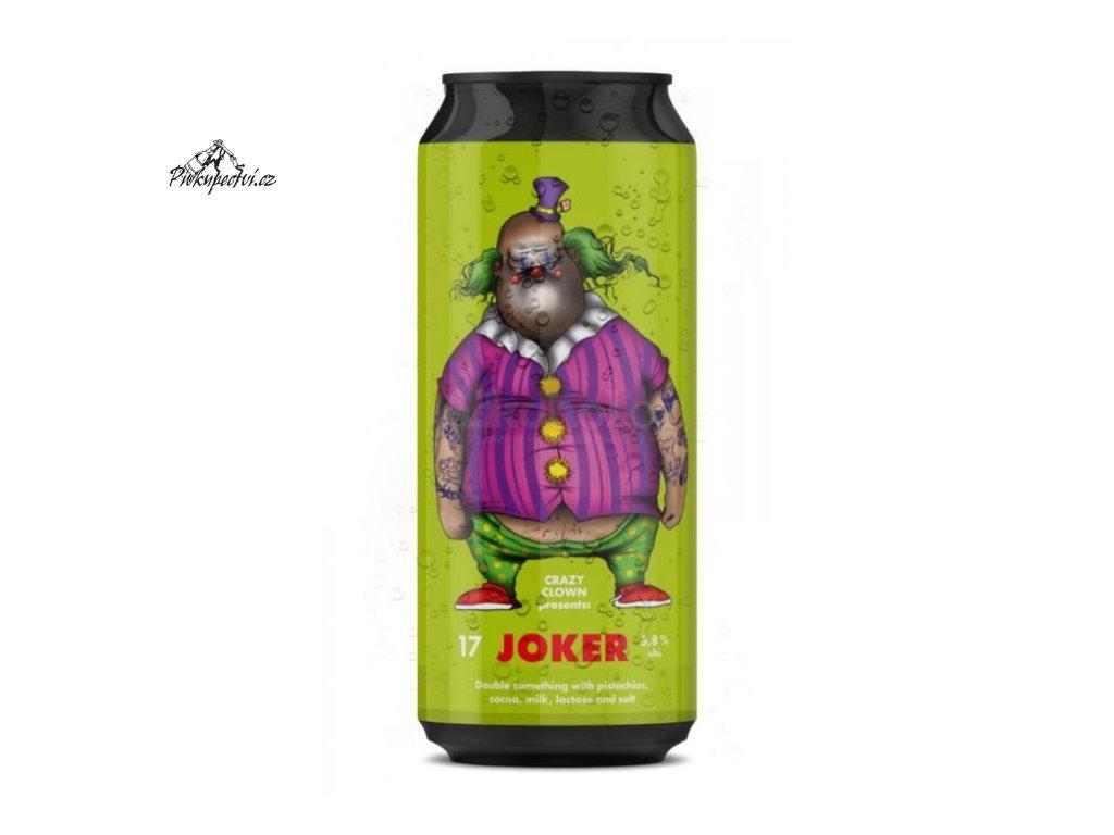 crazy clown joker white porter 17
