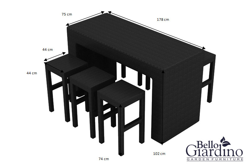 MS.005.007 Dining furniture set GENIALE - dimensions
