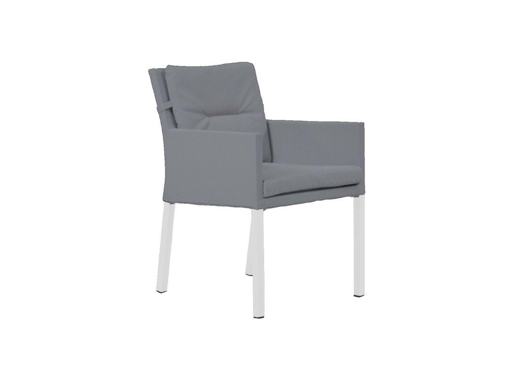 caribean chair white mist grey soltex
