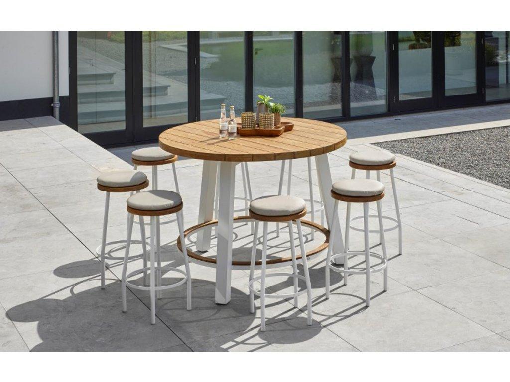 canada bar chair white robust teak