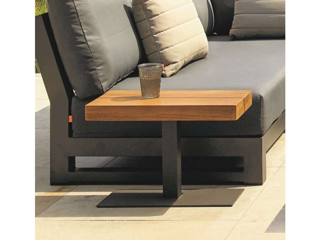 fitz roy side table lava with robust teak
