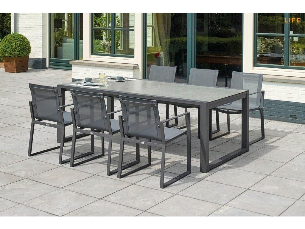 primavera extendable dining 220 340 x 106 x 75 cm lava ceramic1