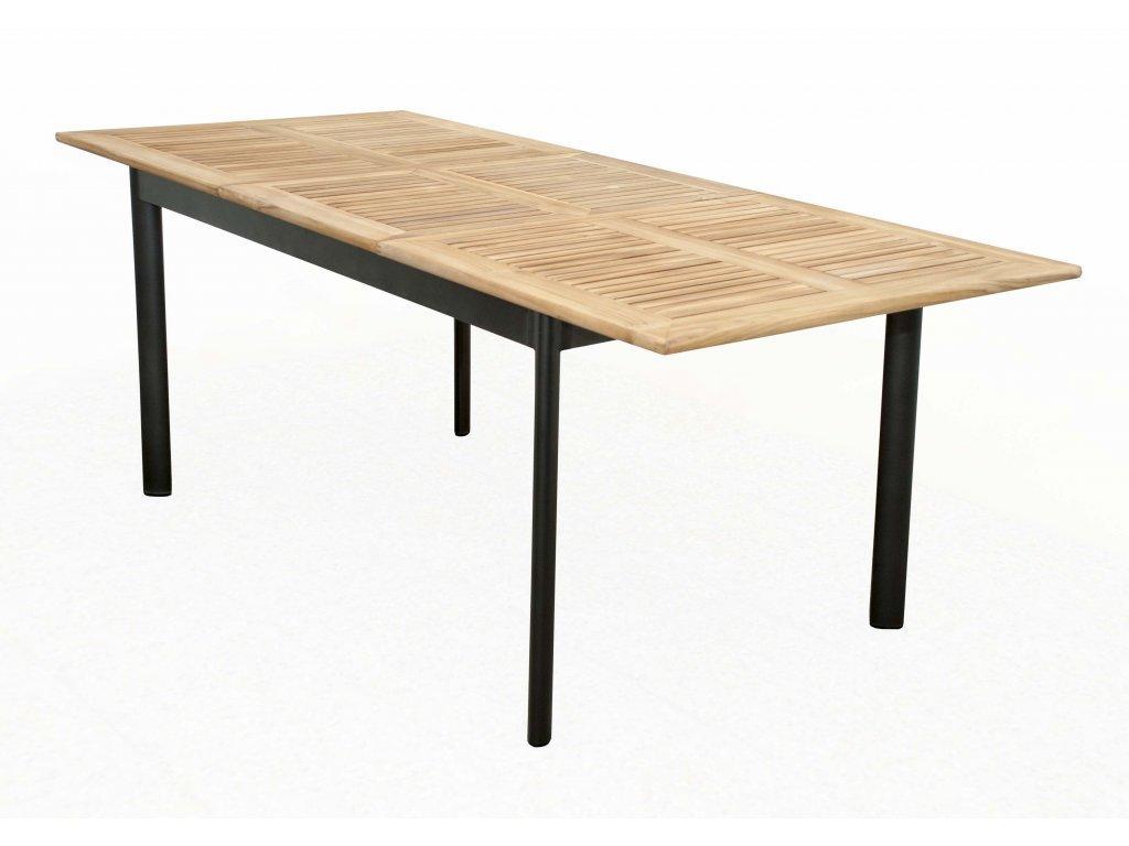 CONCEPT - rozkladací stôl teak 150/210 x 90 x 75 cm