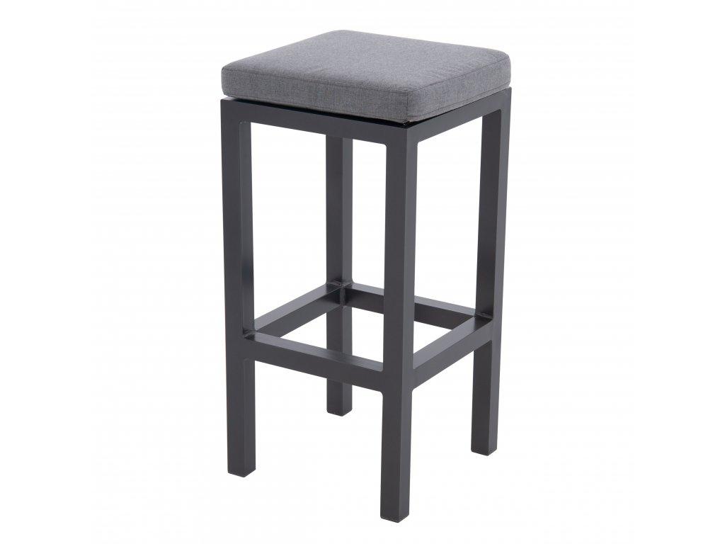 EXPERT antracit - barová stolička s poduškou