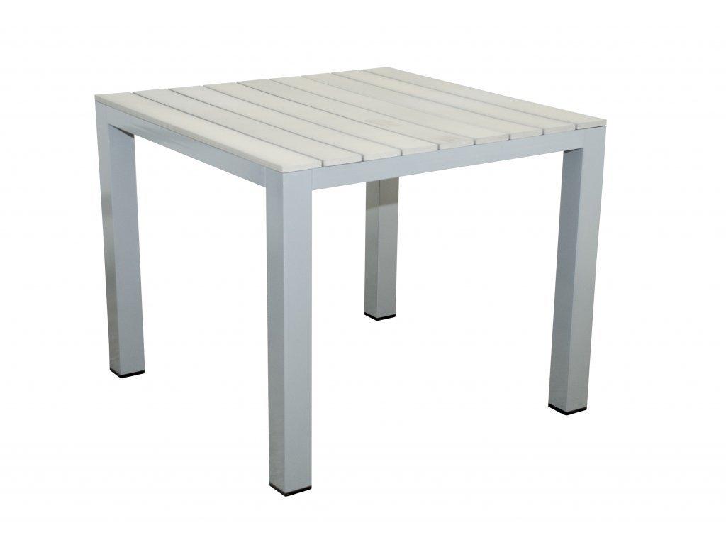 GENUA - hliníkový stôl 90 x 90 x 74 cm