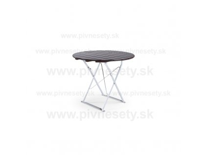 Skladací stôl okrúhly 90 cm