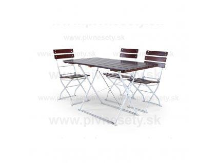 Záhradná zostava - 4+1 stôl 120 x 70 cm