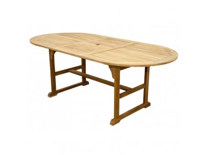teak oval stol