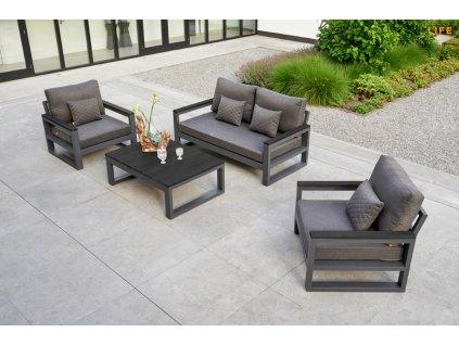 Hliníková záhradná sedacia súprava Mallorca lounge set lava