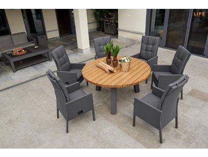 caribean adjustable chair lava carbon1