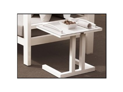 easy side table white