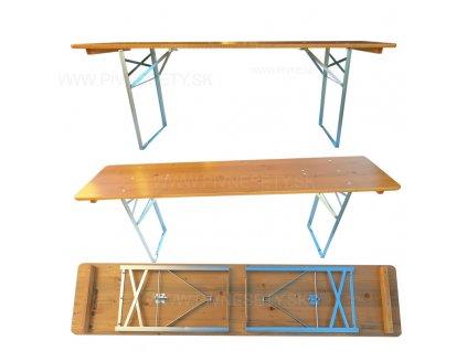 dreveny stol 220x50 pozink sk