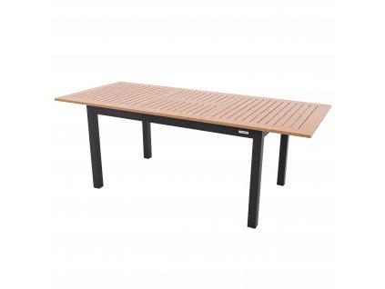 EXPERT WOOD hliníkový stôl 220/280 x 100 x 75 cm