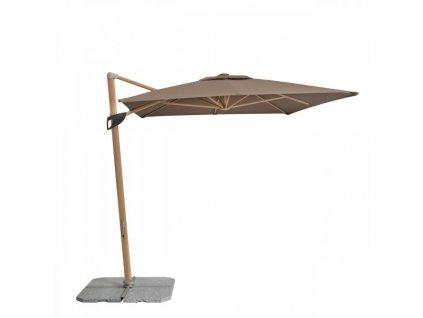 Alu Wood 2,2 x 3 m - výkyvný slnečník s bočnou tyčou