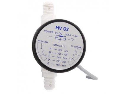 Průtokoměr - měřící turbínka MV02