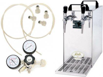 Pivní chlazení KONTAKT 40 Green Line s redukčním ventilem CO2 bez naražečů  + Dárek zdarma