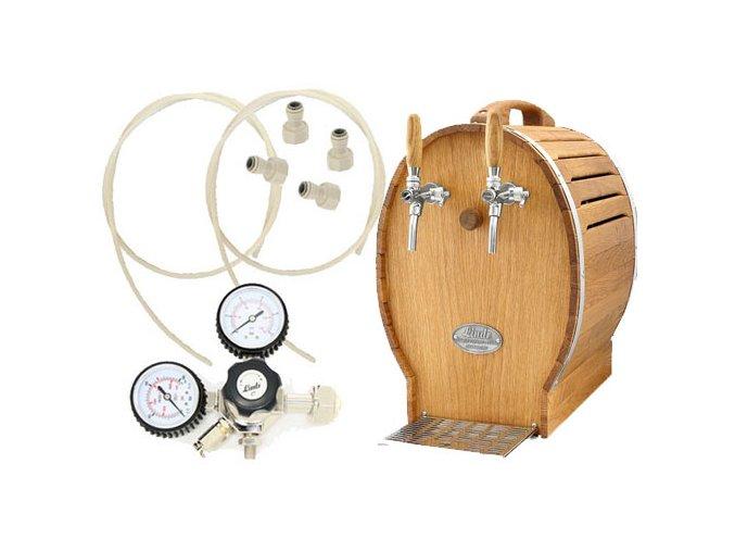 Luxusní pivní chlazení SOUDEK 50 s redukčním ventilem CO2 bez naražečů  + Alkoholtester zdarma