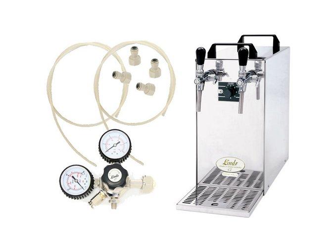 Pivní chlazení KONTAKT 40 Green Line s redukčním ventilem CO2 bez naražečů  + Alkoholtester zdarma