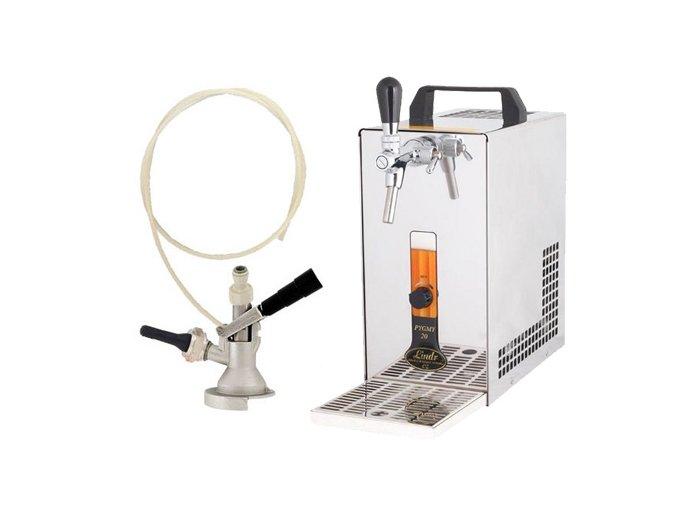 Pivní chlazení PYGMY 20 - komplet s autoventilkem PLOCHÝ (bez kompresoru)