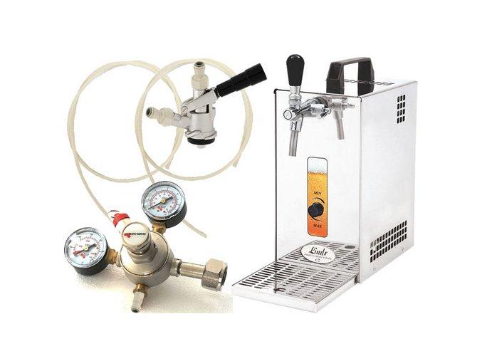Pivní chlazení PYGMY 25 - komplet red. ventil CO2 BAJONET