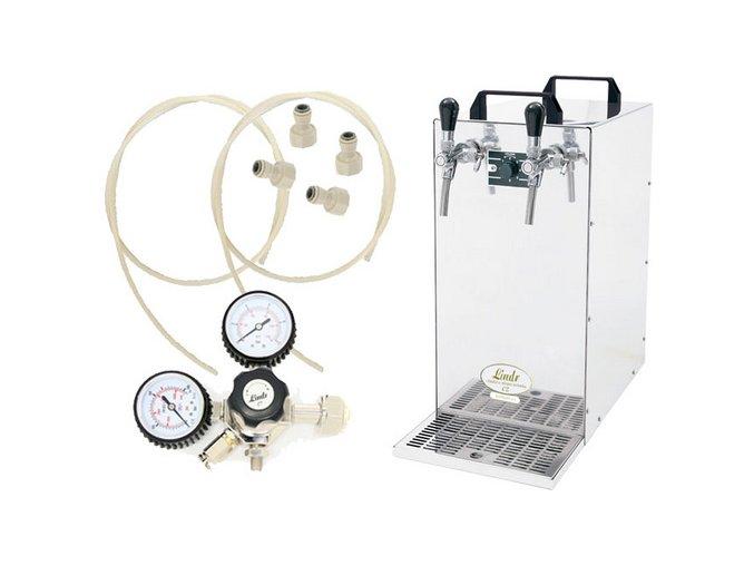 Výčepní zařízení KONTAKT 155 Green Line s redukčním ventilem CO2 bez naražečů  + Alkoholtester zdarma
