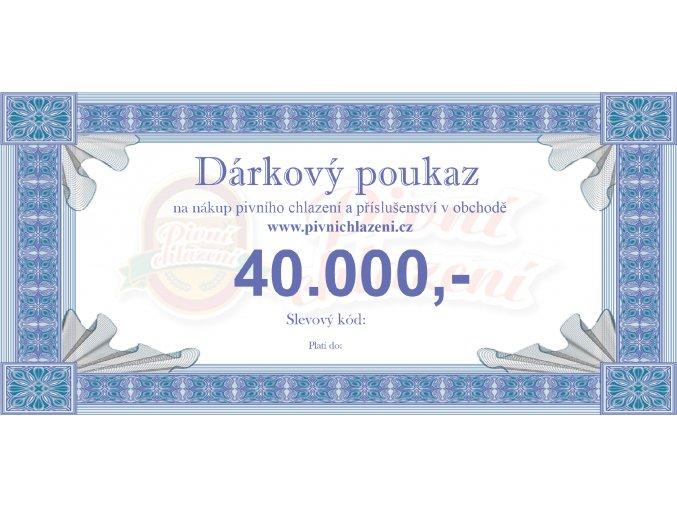 Dárkový poukaz 40.000,-