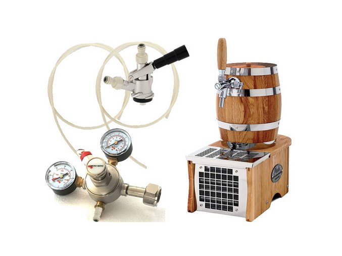 Luxusní pivní chlazení SOUDEK 1/8HP - komplet red. ventil CO2 BAJONET  + Alkoholtester zdarma
