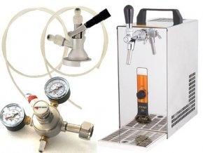 Pivní chlazení PYGMY 20 - komplet red. ventil CO2 PLOCHÝ
