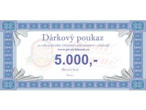 Dárkový poukaz 5.000,-