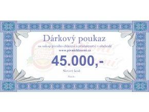 Dárkový poukaz 45.000,-
