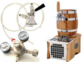 Luxusní pivní chlazení SOUDEK 20 - komplet red. ventil CO2 PLOCHÝ  + Alkoholtester zdarma