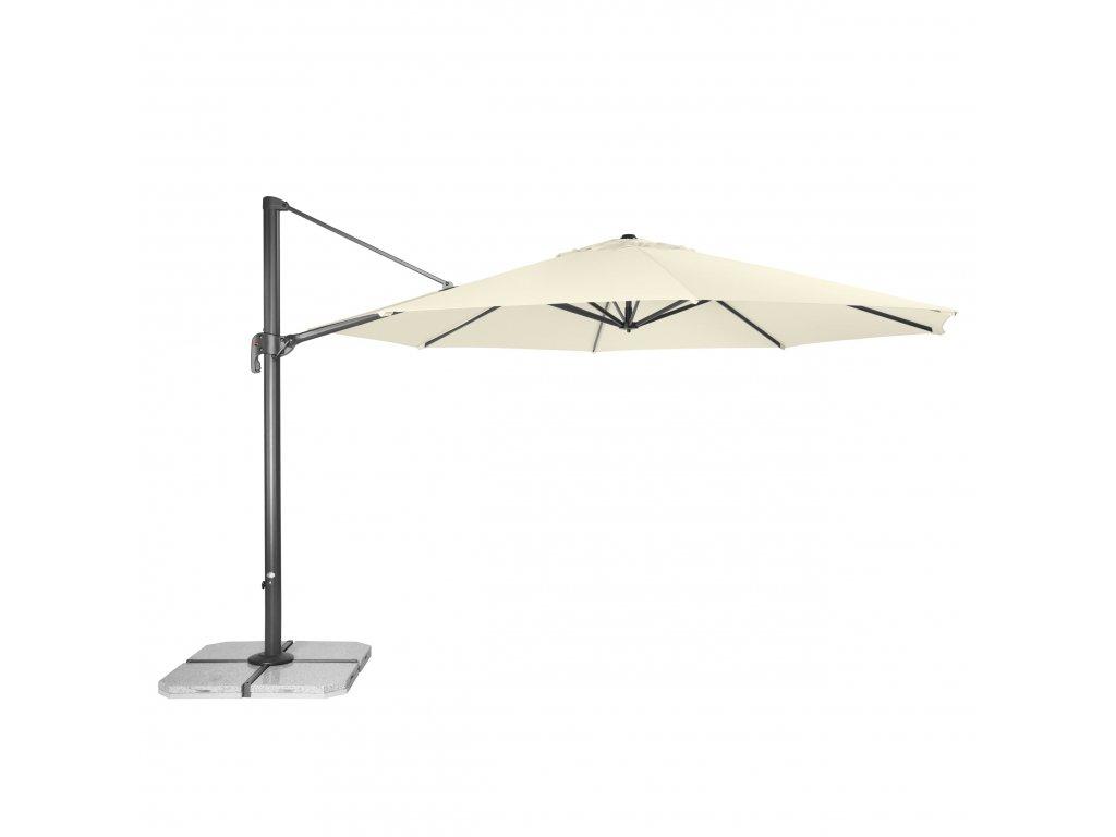 RAVENNA 400 cm - zahradní výkyvný slunečník s boční tyčí (dezén látky 820)