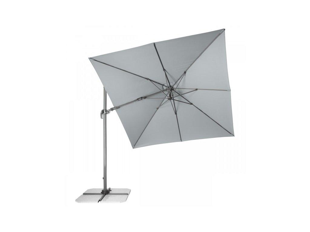 RAVENNA Axial 275x275 cm - zahradní výkyvný slunečník s boční tyčí (dezén látky 827)