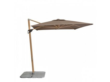 Alu Wood 2,2 x 3 m - výkyvný slunečník s boční tyčí (dezén látky 820)