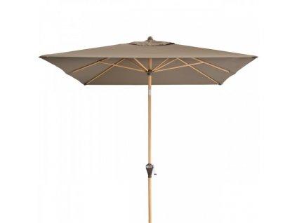 Alu Wood 300 x 200 cm - naklápěcí slunečník s klikou (dezén látky 820)