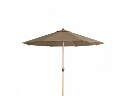 Alu Wood 350 cm - naklápěcí slunečník s klikou (dezén látky 820)