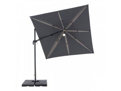 770 ravenna 2 5 x 2 5 m naklapaci slnecnik s bocnou tycou a led svetlom