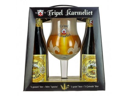 box tripel karmeliet 4 bottles glass