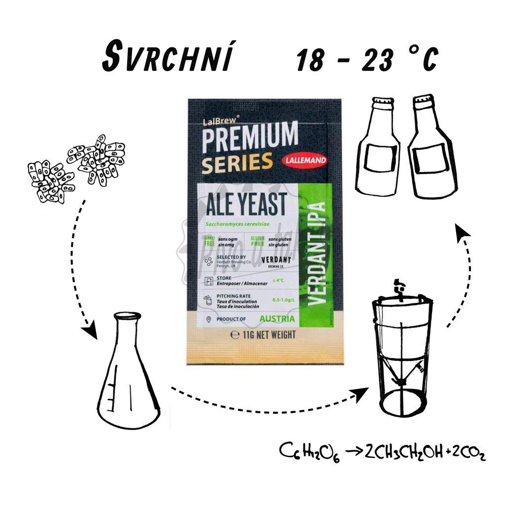 Kvasnice Lallemand LalBrew® Premium Verdant IPA 11 g