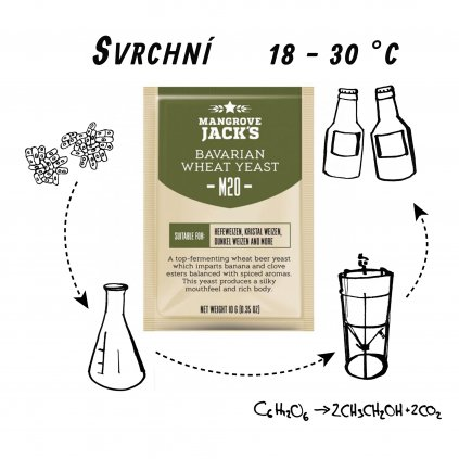 Kvasnice Mangrove Jack's Bavarian Wheat M20 - 10 g