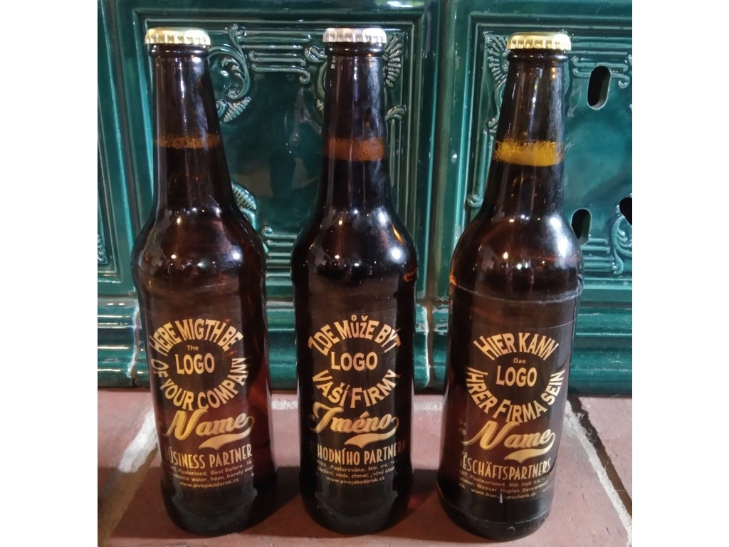 Piva s logem, etiketou firmy, klubu, spolku, obce atd