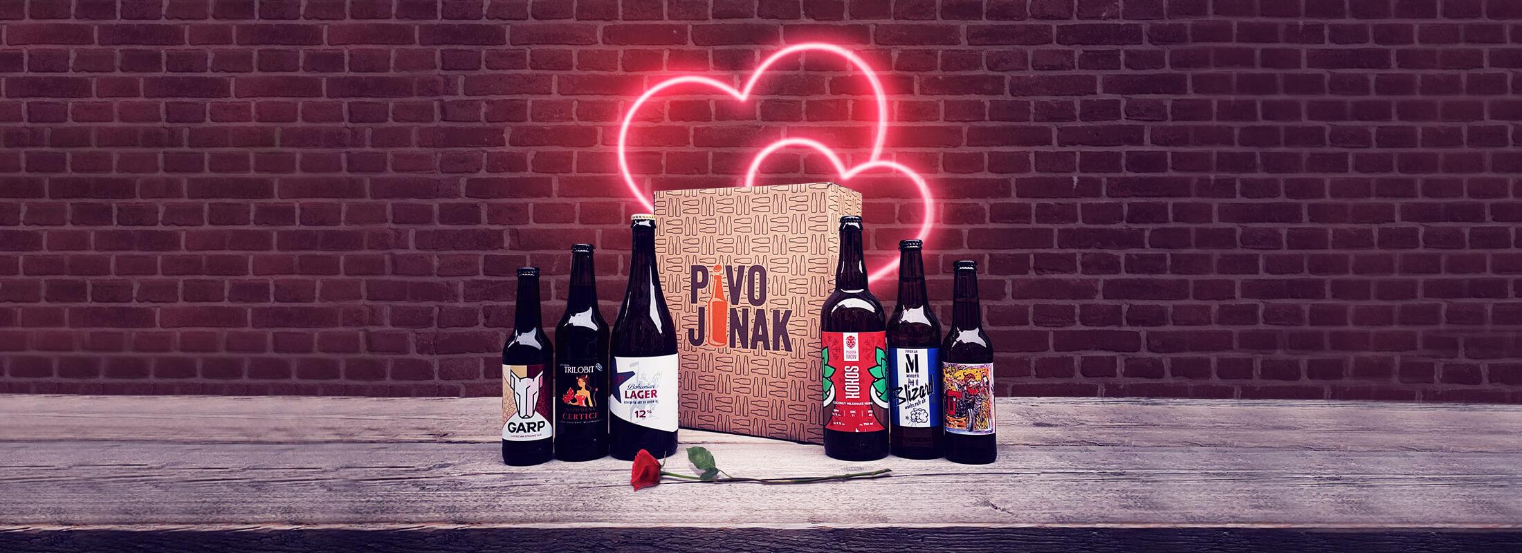 Valentýnské malé pivní předplatné