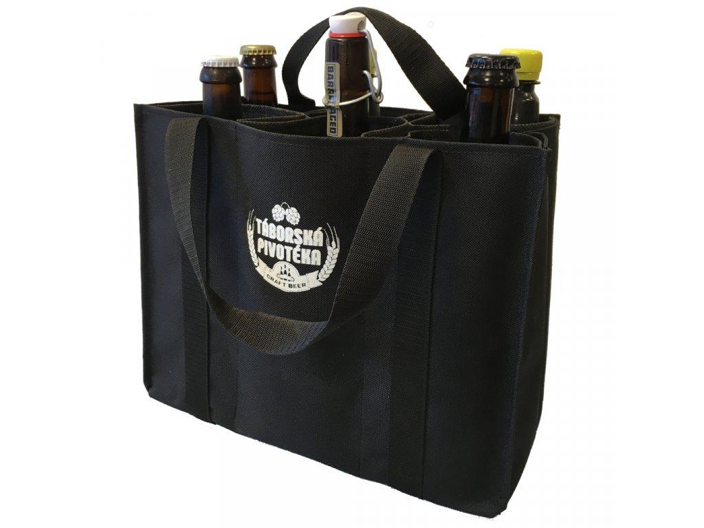 Stylová plátěná taška na pivo