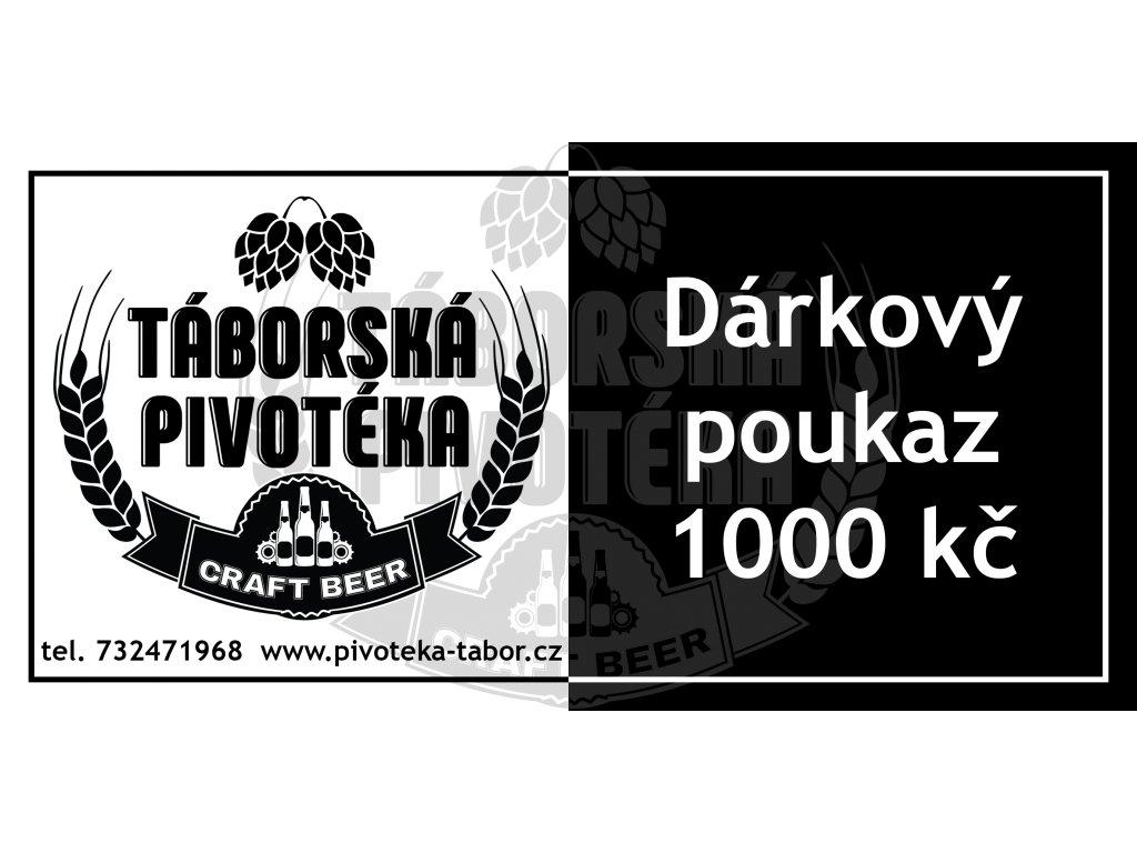 Dárkový poukaz 1000 vodoznak