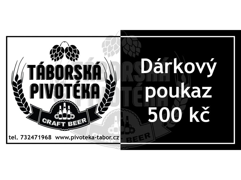 Dárkový poukaz 500 vodoznak
