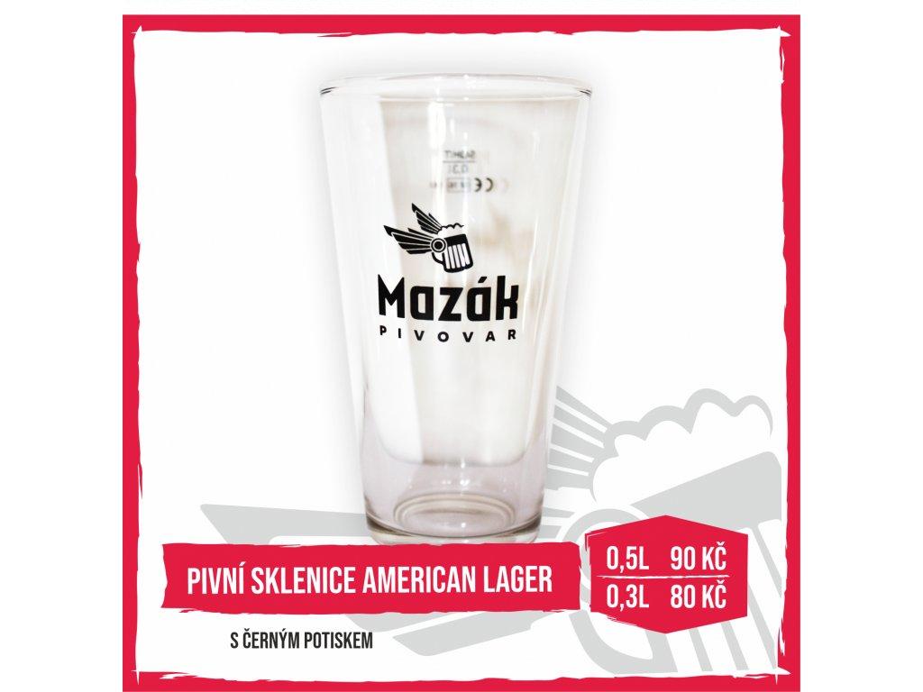 Pivní sklenice American Lager